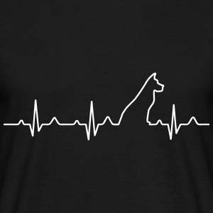 Dog Heartbeat 2 T-Shirts - Männer T-Shirt
