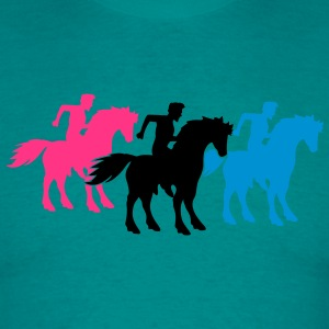 race team buddies 3 equestrian rider riding ross k T-Shirts - Men's T-Shirt
