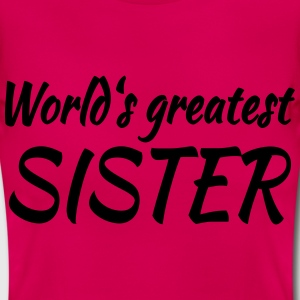 World's greatest sister T-skjorter - T-skjorte for kvinner