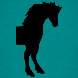 forreste del horse skitsere silhuet skygge symbol  T-shirts - Herre-T-shirt