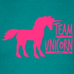 team unicorn party cool spaß einhorn pink gay schw T-Shirts - Männer T-Shirt