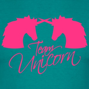 team unicorn 2 Battling enemies buddies head unico T-Shirts - Men's T-Shirt