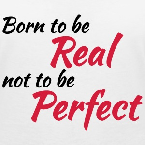Born to be real T-shirts - T-shirt med v-ringning dam