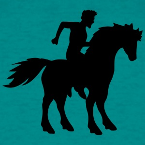 rider riding ross knight prince young man guy hors T-Shirts - Men's T-Shirt