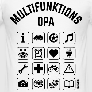 Multifunktions Opa (16 Icons) T-Shirts - Männer Slim Fit T-Shirt