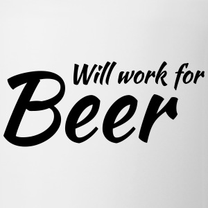 Will work for beer Krus & tilbehør - Kop/krus