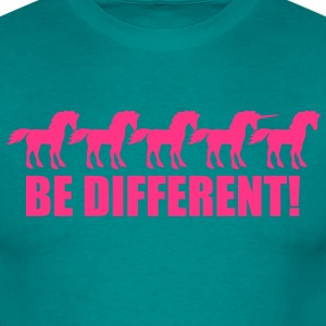 series be different unicorn horse pattern design u T-Shirts - Men's T-Shirt