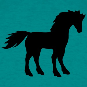 hest skitsere silhuet symbol skygge logo hingst T-shirts - Herre-T-shirt