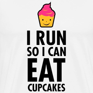 I Run So I Can Eat Cupcakes Magliette - Maglietta Premium da uomo