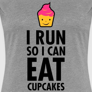 I Run So I Can Eat Cupcakes T-shirts - Vrouwen Premium T-shirt