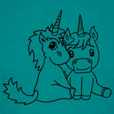 couple love couple in love young unicorn unicorn s T-Shirts