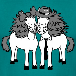 couple love couple in love 2 horse mare stallion m T-Shirts - Men's T-Shirt