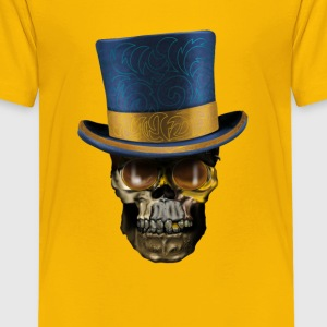 Skull with Top Hat T-shirts - Premium-T-shirt tonåring