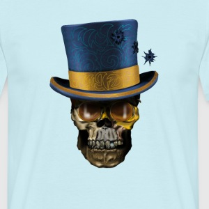 Skull with Top Hat T-shirts - T-shirt herr