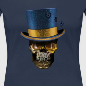 Skull with Top Hat T-Shirts - Women's Premium T-Shirt
