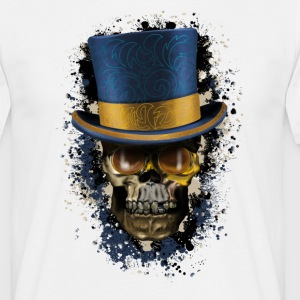 Skull with Top Hat T-Shirts - Men's T-Shirt