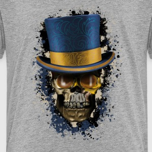 Skull with Top Hat Tee shirts - T-shirt Premium Ado