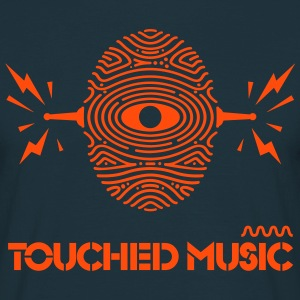 Touched Logo Orange and Navy  - Men's T-Shirt