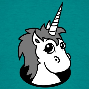 hole unicorn unicorn foal sweet cute sitting comic T-Shirts - Men's T-Shirt