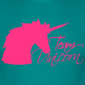 head team unicorn unicorn pink horse outline silho T-Shirts - Men's T-Shirt