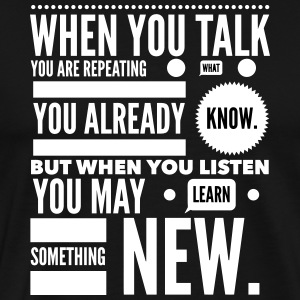 listen to learn T-Shirts - Men's Premium T-Shirt