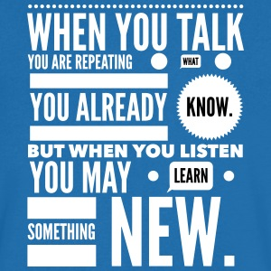 listen to learn Tee shirts - T-shirt Homme col V