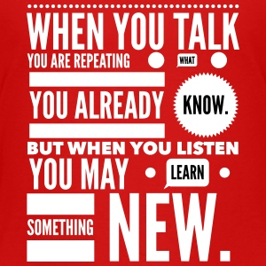 listen to learn Shirts - Kids' Premium T-Shirt