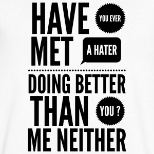 hater doing better than you ? T-shirts - Herre T-shirt med V-udskæring