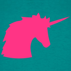head unicorn pink horse outline silhouette shadow  T-Shirts - Men's T-Shirt