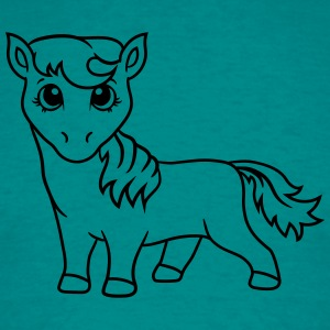 little cute sweet foal pony horse pferdchen comic  T-Shirts - Men's T-Shirt