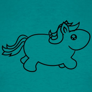 little big fat sweet cute baby pony pferdchen hors T-Shirts - Men's T-Shirt