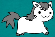 gatito del kawaii caballo Pferdchen unicornio dulc Camisetas , Camiseta hombre