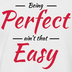 Being perfect ain't that easy T-shirts - Kortärmad basebolltröja herr