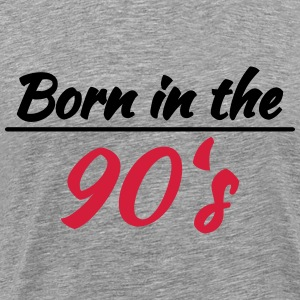 Born in the 90's T-shirts - Herre premium T-shirt