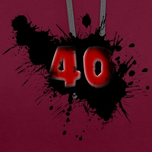 40e anniversaire Sweat-shirts - Sweat-shirt contraste