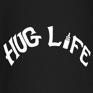 Hug Life White On Black  - Baby Long Sleeve T-Shirt