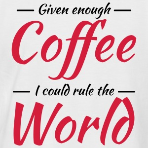 Given enough coffee I could rule the world T-shirts - Mannen baseballshirt korte mouw