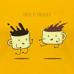 Coffee vs chocolate - T-shirt Premium Femme
