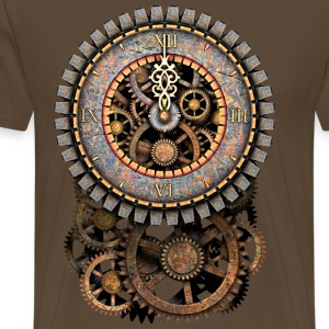 Steampunk Clock and Gears T-Shirts - T-shirt Premium Homme