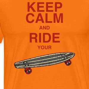 MännerShirt Keep calm and ride your board - Männer Premium T-Shirt