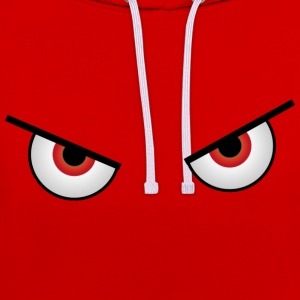 Crazy red eyes - Sweat-shirt contraste