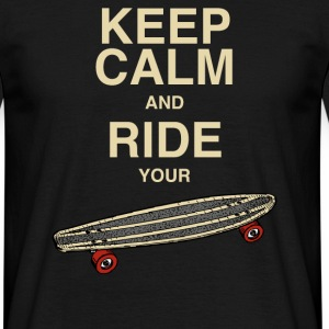 MännerShirt Keep calm and ride your board - Männer T-Shirt