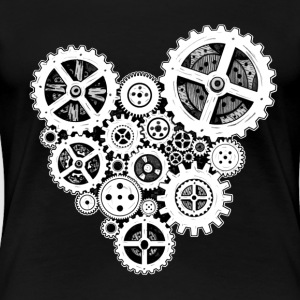 steampunk heart T-Shirts - Frauen Premium T-Shirt