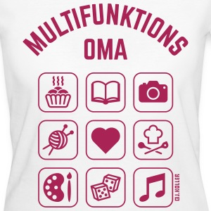 Multifunktions Oma (9 Icons) T-Shirts - Frauen Bio-T-Shirt