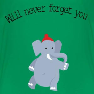 cute-elephant-red-beanie- T-Shirts - Kinder Premium T-Shirt