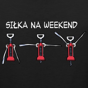 Siłka na Weekend (ciemny) Sports wear - Men's Premium Tank Top