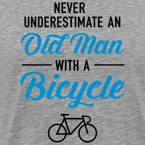 Old Man - Bicycle T-Shirts - Men's Premium T-Shirt