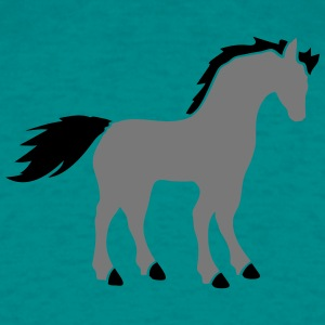 donkey horse stallion mare gray mold riding beauti T-Shirts - Men's T-Shirt