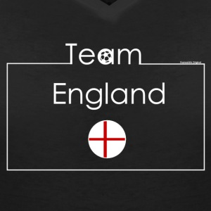 VShirt Team England I Frameshirts - Women's V-Neck T-Shirt