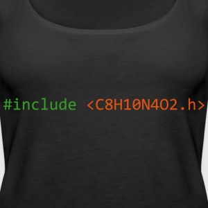 #include caffein - Frauen Premium Tank Top